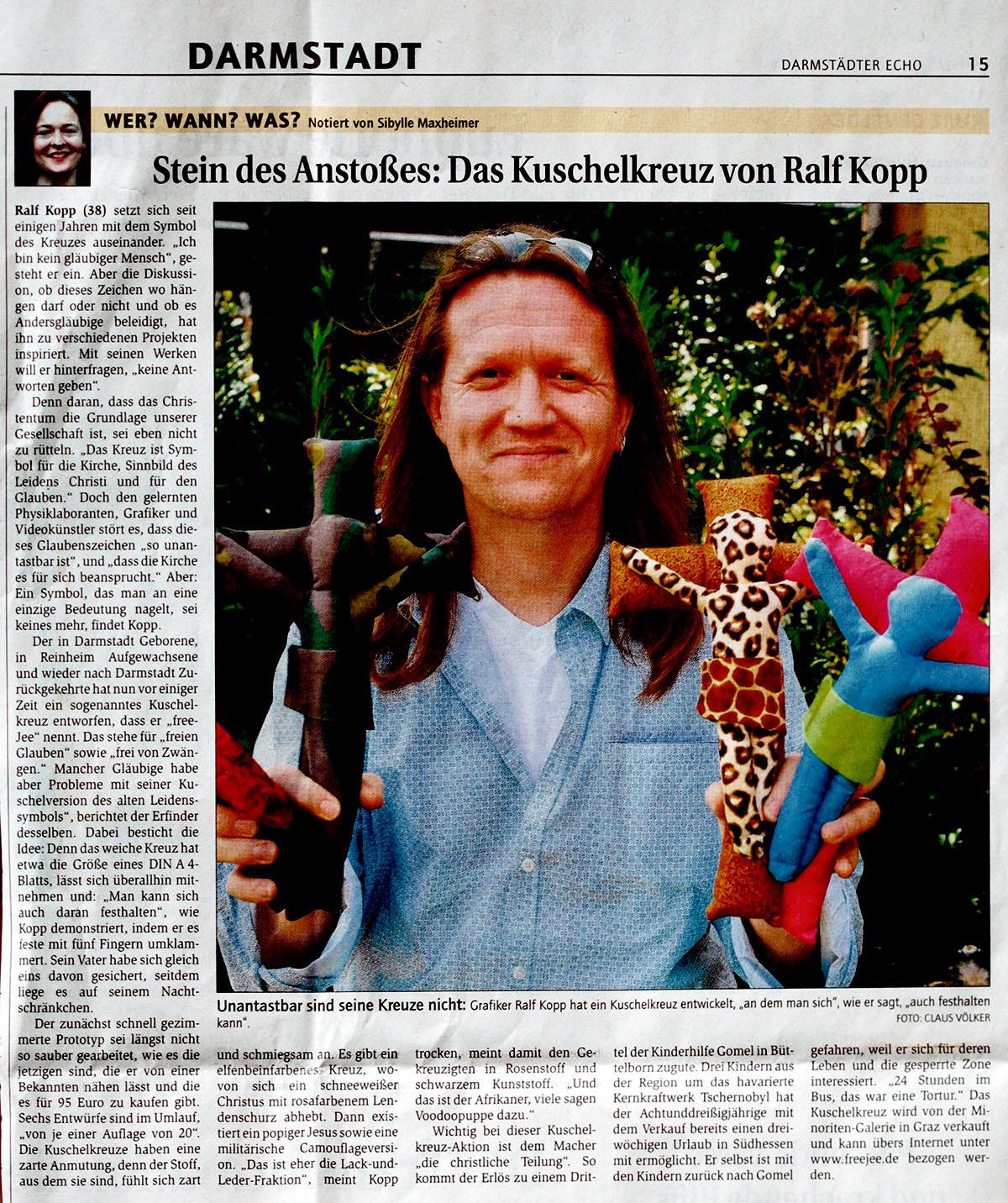 Ralf Kopp - freeJee - Darmstädter Echo - www.ralfkopp.com