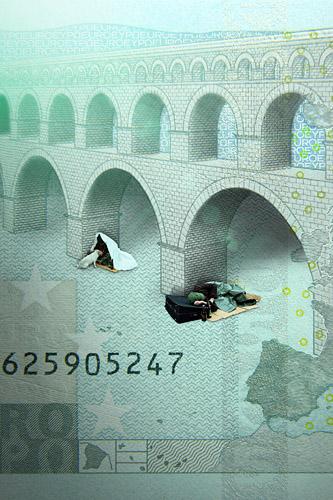 5 Euro Schein POMD - Realitätsprinzip - Ralf Kopp