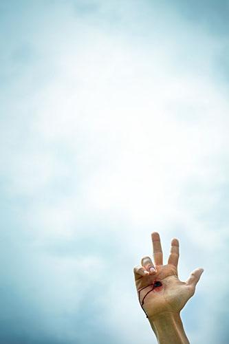 Handzeichen, Schwur, Schwören, ralf kopp - Dualsymbolik I 02