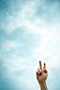 Handzeichen, Zeichen des Sieges, Peace, Victory-Zeichen, ralf kopp - Dualsymbolik I 03 - Hand Jesu