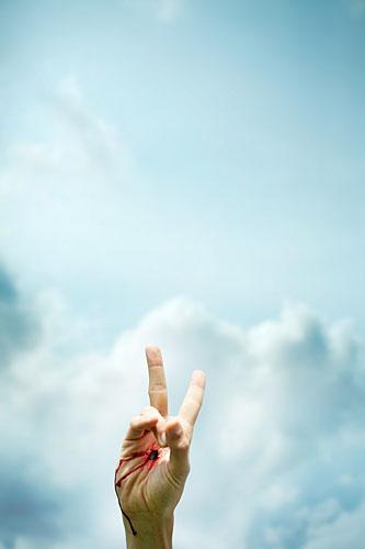 Handzeichen, Zeichen des Sieges, Peace, Victory-Zeichen, ralf kopp - Dualsymbolik I 07