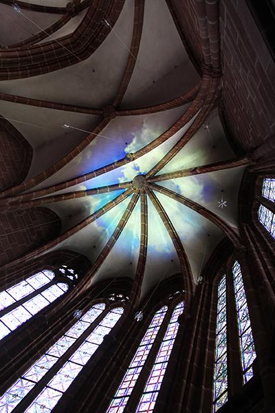 Deckenprojektion Lautrer Geschichten mit Gott - Stiftskirche Kaiserslautern